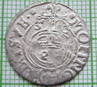 POLAND LITHUANIA CITY ELBING SWEDISH OCCUPATION 1633 POLTORAK   1/24 THALER AG