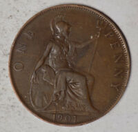 GREAT BRITAIN 1901 1 PENNY COIN