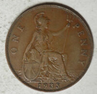 GREAT BRITAIN 1935 1 PENNY COIN