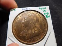 INV M162 GREAT BRITAIN 1900 PENNY BU RED BROWN