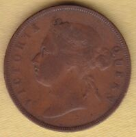 VICTORIA QUEEN STRAITS SETTLEMENTS ONE CENT 1893  COPPER COI