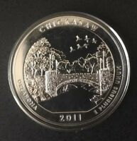 2011 ATB 5OZ SILVER CHICKASAW NATIONAL PARK EXCELLENT BU CONDITION MINT STATE
