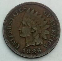1886 TYPE 1 INDIAN  HEAD CENT MID  GRADE