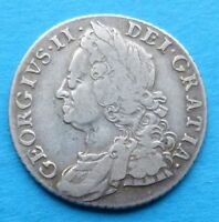 GB GREAT BRITAIN ENGLAND SILBER SHILLING 1758 GEORGE II.