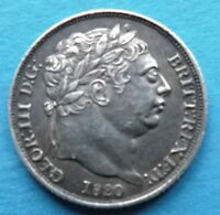 GB GREAT BRITAIN ENGLAND SILBER 6 PENCE 1820 VZ XF GEORGE
