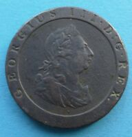 GB GREAT BRITAIN ENGLAND PENNY 1797 GEORGE III. SO CALLED