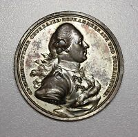 1774 GEORG F VON DITTMER MEDAL OUTSTANDING DETAIL WITH ORIGINAL SURFACES