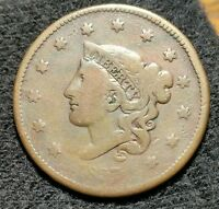 1837 LARGE CENT PENNY OLD COPPER US COIN
