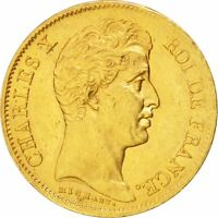 [15815] FRANCE CHARLES X 40 FRANCS 1830 PARIS GOLD KM:721.1 GADOURY:1105