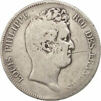 [16261] FRANCE LOUIS PHILIPPE 5 FRANCS 1830 PARIS VG 8 10  SILVER