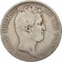 [16262] FRANCE LOUIS PHILIPPE 5 FRANCS 1830 PARIS VG 8 10  SILVER