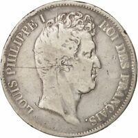 [19221] FRANCE LOUIS PHILIPPE 5 FRANCS 1830 PARIS F 12 15  SILVER