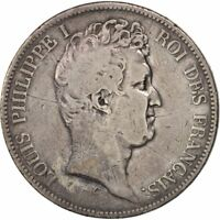 [19831] FRANCE LOUIS PHILIPPE 5 FRANCS 1830 PARIS F 12 15  SILVER