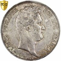 [25464] FRANCE LOUIS PHILIPPE 5 FRANCS 1830 B ROUEN KM:737.2 PCGS AU50
