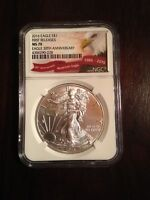 2016 SILVER EAGLE FIRST RELEASE NGC MS70 30TH ANNIVERSARY