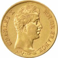 [26338] FRANCE CHARLES X 40 FRANCS 1830 PARIS KM 721.1 EF 40 45  GOLD