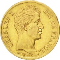 [24662] FRANCE CHARLES X 40 FRANCS 1830 PARIS KM 721.1 EF 40 45  GOLD
