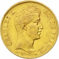 [24497] FRANCE CHARLES X 40 FRANCS 1830 PARIS KM 721.1 EF 40 45  GOLD