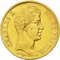 [24864] FRANCE CHARLES X 40 FRANCS 1830 PARIS KM 721.1 EF 40 45  GOLD