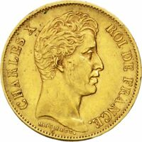 [31041] FRANCE CHARLES X 40 FRANCS 1830 PARIS KM 721.1 AU 50 53  GOLD