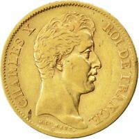 [26507] FRANCE CHARLES X 40 FRANCS 1830 PARIS KM 721.1 VF 20 25  GOLD