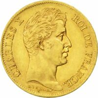 [29486] FRANCE CHARLES X 40 FRANCS 1830 PARIS KM 721.1 AU 50 53  GOLD