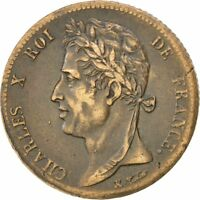 [35480] FRENCH COLONIES 5 CENTIMES 1830 PARIS KM 10.1 AU 50 53  BRONZE