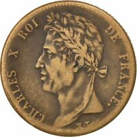 [35910] FRENCH COLONIES 5 CENTIMES 1830 PARIS KM 10.1 EF 40 45  BRONZE