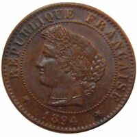 [51151] FRANCE CRS CENTIME 1894 PARIS KM 826.1 MS 60 62  BRONZE