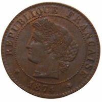 [51107] FRANCE CRS CENTIME 1874 PARIS KM 826.1 AU 55 58  BRONZE