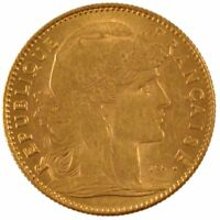 [56020] FRANCE MARIANNE 10 FRANCS 1910 PARIS KM 846 AU 55 58  GOLD