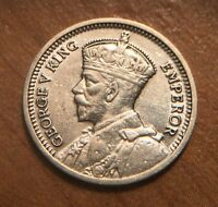 1936 NEW ZEALAND 3 PENCE SILVER COIN.  AT THIS GRADE. BETTER DATE