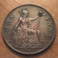 GREAT BRITAIN  UK . 1930 PENNY. KING GEORGE V BRITISH BRONZE PENNY