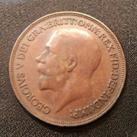 GREAT BRITAIN  UK . 1914 PENNY. KING GEORGE V BRITISH BRONZE PENNY