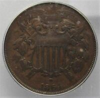 1864 SMALL MOTTO TWO CENT PIECE VG8 ICG COIN AD620