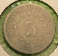 1875 SHIELD NICKEL BETTER DATE