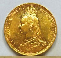 AUSTRALIA GOLD SOVEREIGN 1893 S ALMOST UNCIRCULATED