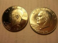 IKE DOLLAR COINS 1776 1976  D P S  SILVER CLAD AND ONE COPPER NICKEL CLAD PROOF