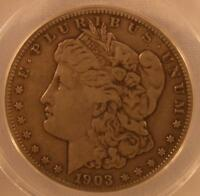 1903 S MORGAN SILVER DOLLAR ANACS VF20 VAM-2 SMALL S TOP 100 VAM