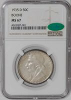 1935 D BOONE 50C MS67 NGC   CAC