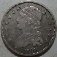1834 CAPPED BUST QUARTER DOLLAR   EX. PCGS VF   LABEL INCLUDED W/COIN