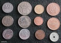 LOT OF 12 WORLD COINS FROM 12 DIFFERENT COUNTRIES LUXEMBOURG NORWAY JAMAICA