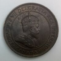 CANADA 1907 H HEATON MINT   KEY DATE LARGE CENT DIE CLASH NICE COIN