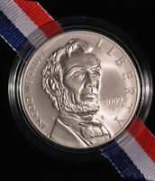 2009 ABRAHAM LINCOLN UNCIRCULATED SILVER DOLLAR IN OGP