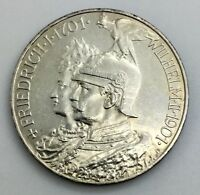 GERMAN STATES PRUSSIA  1901 5 MARK SILVER COMMEMORATIVE  NICE COIN