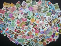 VINTAGE MIXED LOT OF 60 65 USED US POSTAGE STAMPS IN GLASSINE ENVELOPE