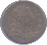 NON REGAL GREAT BRITAIN GEORGE III COLONIAL ERA HALFPENNY