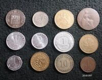 LOT OF 12 WORLD COINS FROM 11 DIFFERENT COUNTRIES CHILE GREAT BRITAIN GERMANY