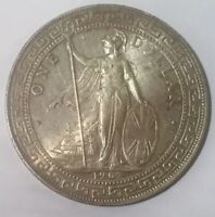 1907  B  GREAT BRITAIN TRADE DOLLAR SILVER    COIN EXCELLENT LUSTRE TONE