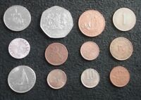 LOT 12 WORLD COINS FROM 12 COUNTRIES ALGERIA KENYA HUNGARY RUSSIA MORE